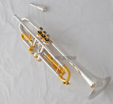 "Professional Silver Plated new Trumpet Horn Monel Valves 0.459"" Bore With Case"