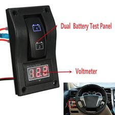 12V Car Marine Boat Dual Battery Test Panel Rocker Switch LED Voltage Voltmeter#