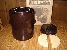 New TSM German Style Harvest Pot Fermentation Sauerkraut Crock 10L Brown