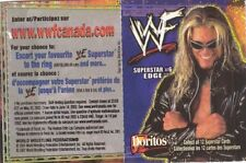 EDGE  wwe DORITOS 2001 MINI STAND UP TRADING CARD #6 (Canadian Exclusive)