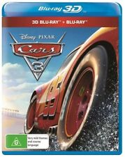 Cars 3 3D (Blu-ray, 2017, 2 disc set) Brand new & sealed