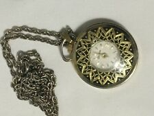 Vintage LUCERNE SWISS PENDANT NECKLACE WATCH with chain Not Running