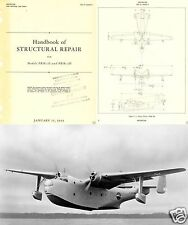 MARTIN MARINER REPAIR MANUAL 1940's Flying Boat PBM Navy historic archive detail