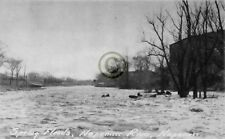 """Napanee, Ontario, Canada """"Spring floods River """" in 1920 Reprint Pro Glossy Paper"""