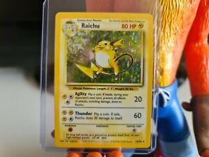 Raichu 14/102 Rare Holo Base Set 1999 WOTC Pokemon Card VGC