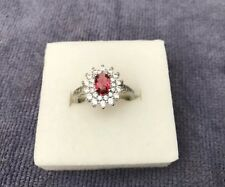 Gorgeous Sterling Silver CZ Cluster Ring BN
