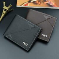 Fashion Men's Leather Wallet Pocket Bifold Purse Clutch ID Card Credit I1S6