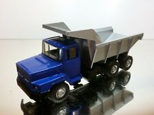 LION CAR 71/72 DAF 2800 TORPEDO DUMP TRUCK - TIPPER - BLUE 1:50 - VERY GOOD