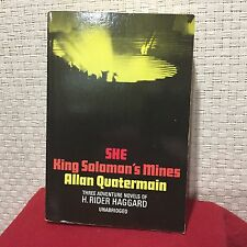 King Solomon's Mines, Allan Quatermain, She by H. Rider Haggard Free Shipping
