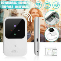 Unlocked 4G-LTE Mobile Broadband WiFi Wireless Router MiFi Hotspot Adapter White
