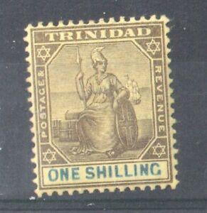 1903 TRINIDAD - S.G:131  - 1/- BLACK & BLUE/YELLOW  MOUNTED MINT - Q. VICTORIA