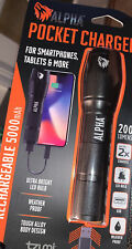 Alpha Pocket Charger Weather-Resistant Led Flashlight Portable Device Charger