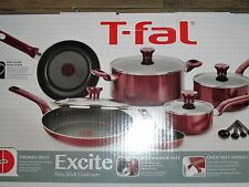 **Brand New** T-fal Excite Nonstick Cookware Set,14-piece, Red