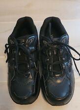 Mens Vionic 23 Walk Tennis Shoes Leather Black 11 Wide EUC Orthotic AMS Tech