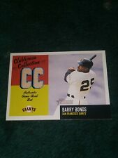2002 Topps Heritage Clubhouse Collection Barry Bonds Bat Card