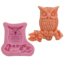 Owl Silicone Mold Shape Chocolate Fondant Cake Sugar Craft Decor Baking Tool DIY