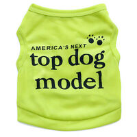 Summer Dog Clothes Soft Puppy Vest Letter Print Small Dog T Shirt For Chihuahua