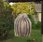 Primitive Antique Vtg Tin Style Halloween Pumpkin Candy Mold Resin Arrow Hanger