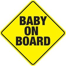 SAFETY BABY ON BOARD SIGN WITH SUCTION CUPS VEHICLE CAR CHILD BABY ON BOARD SIGN