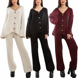 Completo tricot cardigan giacca bottoni pantaloni maglia TOOCOOL VB-21176