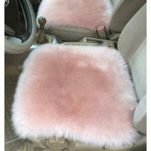 Soft Faux fur Sheepskin Car Seat Cushion Shaggy Area Rugs Carpet 40cm / 45cm