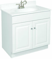 "Design House Wyndham 24"" Two Door White Bathroom Vanity - Cabinet Only"
