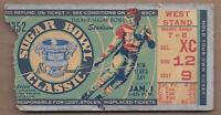 1952 Sugar Bowl football ticket Maryland Terrapins vs. Tennessee Volunteers
