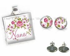Stud Earrings Grandkids Gift Set D1 Nana Grandma Grandmother 2 Pc Pendant &