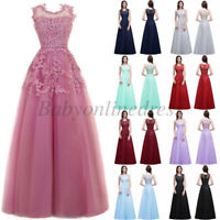 Long Formal Evening Bridesmaid Dress Cocktail Ball Gown Party Wedding Prom Dress