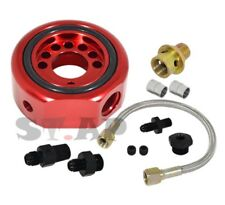 Acura Honda Vtec Ls B20 Engine Swap Oil Supply Feed Line Conversion Adapter Red