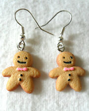 Dangle earrings - 20mm cute gingerbread men