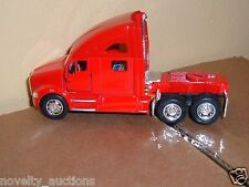 B16 357D Kinsmart  RED Kenworth T700 SEMI Tractor 1:68 Scale diecast pull back