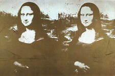 Two Golden Mona Lisas (Lg) by Andy Warhol Art Print 1990 Poster 51x33