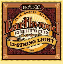 5 Pack! Ernie Ball 2010 12 String Light Earthwood Acoustic Guitar Bronze Alloy