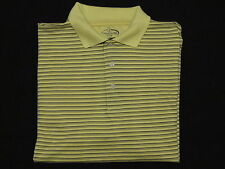 Champions Tour Large Shirt Mens Polo Golf Yellow Black Striped Champion's Men's