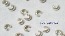 100 Sterling Silver Crimp Bead Crimp Tube Covers
