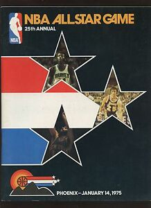 Jan 14 1975 NBA Basketball All Star Game Program EXMT