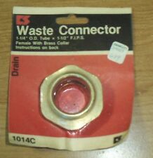 Cs Chicago Specialties Waste Connector 1-1/4 Od Tube And 1-1/2 Fips 1014C