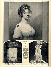 Das älteste &  jüngste Denkmal der Königin Luise Historische Aufnahmen von 1910