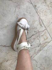 Puma x FENTY by Rihanna Bow Creeper Oatmeal Lace up Ankle Strap Sandal Women's 6