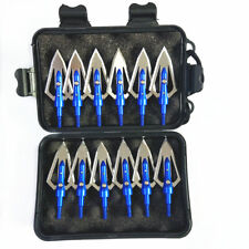 12Pcs Broadheads 100 grain 2 Blade 0.9