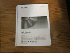 Sony RDR-GX7 operating instructions user manual