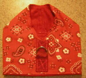 RED HANKY HARNESS VEST ITALIAN GREYHOUND  CHINESE CRESTED MALTESE