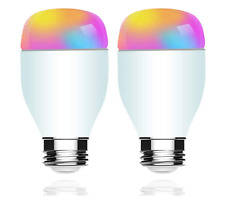 XUNTIY Smart WiFi Light Bulb, 7W E26 RGB Color Changing, Dimmable Light