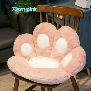 Cute Cat Paw Plush Chair Cushion Child Seat Cushion Sofa Back Pillow Mat 70.60cm