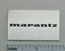 Marantz Turntable Dust Cover Badge Logo Silver Aluminum Free Shipping