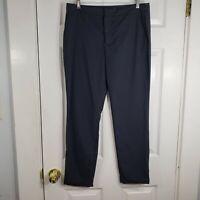 ZARA Basic Collection Size 6 Gray Cuff Taper Leg Dress Pants Slacks Work Womens