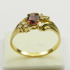 0.35 Carat Fancy Coloured Sapphire Diamond Ring Genuine 750 18ct 18k Yellow Gold