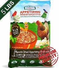 New listing Mealworms -5 Lbs - 100% Non-Gmo Dried Mealworms - Large Meal Worms - Bulk -High
