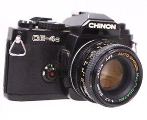 CHINON CE-4S SLR Camera Auto CHINON 50mm f/1.7 PK Mount Lens - SPARES - C80